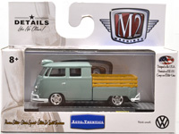 WALMART EXCLUSIVE - 1961 VW DOUBLE CAB  GREEN