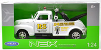 1/24 WELLY 1953 CHEVY 3100 TOW TRUCK -WHITE