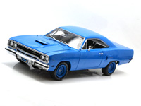 GMP 1/18 1970 PLYMOUTH ROADRUNNER - CORPORATE BLUE