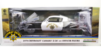 1979 CHEVY CAMARO Z28 - CHP W/OFFICER FIGURE