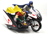 BATMAN CLASSIC TV SERIES BATCYCLE AND SIDECAR