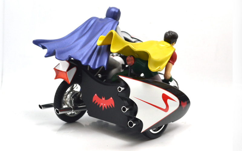 1966 Batcycle and Side Car with Batman and Robin Figures 1//12 ELITE Hot Wheels