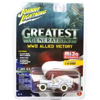 MIJO EXCLUSIVE-WWll WILLYS MB JEEP MILITARY (WHITE