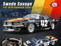 ACME 1:18 1970 PLYMOUTH TRANS AM CUDA - SWEDE SAVA