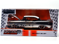 1957 CHEVY BEL AIR (SILVER/BLACK)
