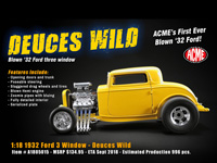 DEUCES WILD BLOWN 1932 FORD 3 WINDOW