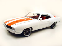 1969 CAMARO WHITE/ORANGE STRIPES