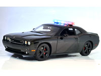 ACME 1:18 DODGE CHALLENGER SRT8 BLACKOUT CHASE CAR