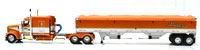 KENWORTH W900 TRI STATE COMMODITIES GRAIN HOPPER