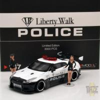 LB WORKS NISSAN GT-R R35 TYPE 1 POLICE WITH 2 FIG
